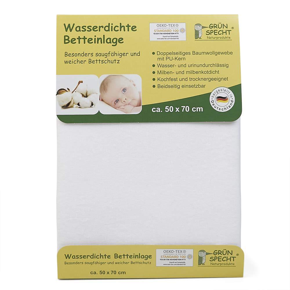 grünspecht 163–00Agua Densidad cama compresa, 50x 70cm, color blanco 163-00