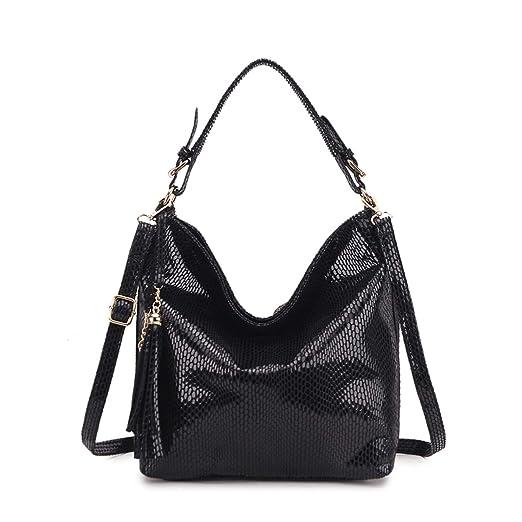 cbb70c015ea9 Amazon.com: Fashion Leather Women Handbags Hobo Tassel Women ...