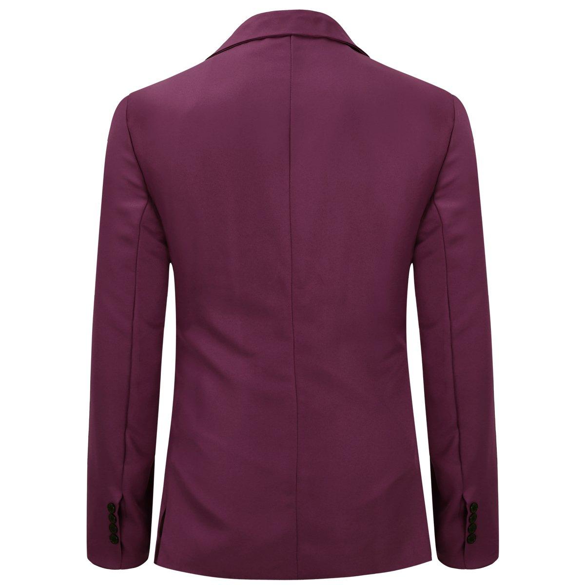 0f76da7e6d0 YUNCLOS Men s Slim Fit Casual One Button Notched Lapel Blazer Jacket at  Amazon Men s Clothing store