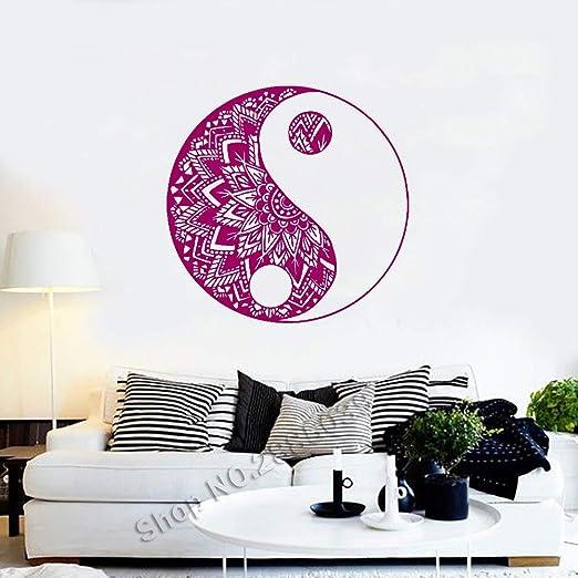 zzlfn3lv Yin Yang Patrón de Yoga Tatuajes de Pared Mandala ...