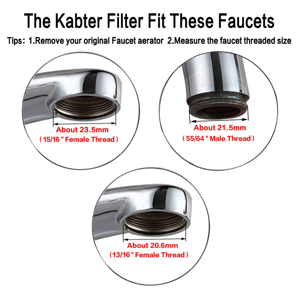 Kabter Faucet Mount Water Filter Tap Water Filtration Purifier,Chrome by Kabter (Image #6)