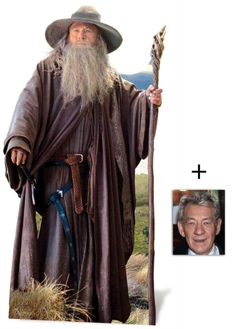 Fan Pack - Gandalf (Ian McKellen) Lifesize Cardboard Cutout / Standee - The Hobbit - Includes 8x10 (20x25cm) Star Photo