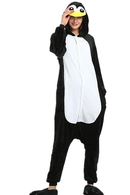 Kenmont Unicornio Juguetes y Juegos Traje Disfraz Animal Ropa de Dormir Cosplay Disfraces Pijamas para Adulto Niños (L: 168-178CM, Pingüino)