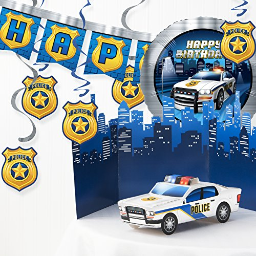 Creative Converting Police Birthday Party Decorations Kit -
