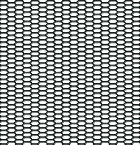 AutoStyle tg2530/racemesh fine esagonale in plastica ABS colore 120/x 30/cm nero