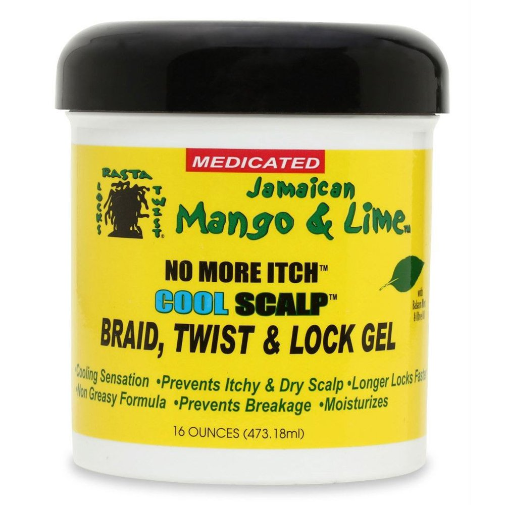 [JAMAICAN MANGO & LIME] NO MORE ITCH COOL SCALP BRAID, TWIST & LOCK GEL 16OZ