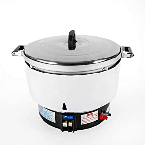BoTaiDaHong Commercial Natural Gas Rice Cooker 60 Cups 10L with Specialized Rubber Tube 2.8 Kpa 8KW Cook Quickly for Chinese Restaurant Take Away