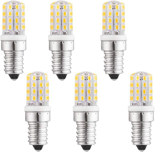 LXcom - Bombilla LED E14 para microondas o frigorífico, 3 W, 6 ...