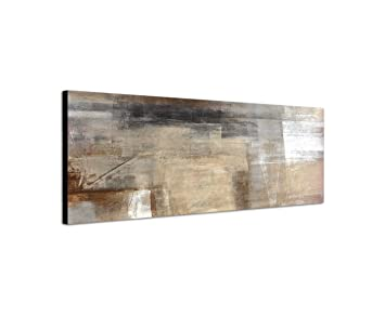 Abstrakte Bilder Auf Leinwand amazon de abstraktes wandbild beige rötlich altrosa 150x50cm