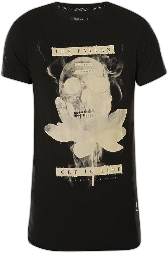 Religion - T-Shirt - Homme - Noir - 44: Amazon.