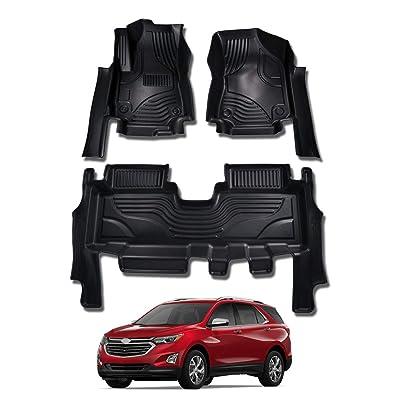 Mixsuper Equinox Floor Mat Custom Fit All Weather 5D Protect Durable Odorless Carpet Liner Set for Chevrolet Equinox 2020-2020: Automotive