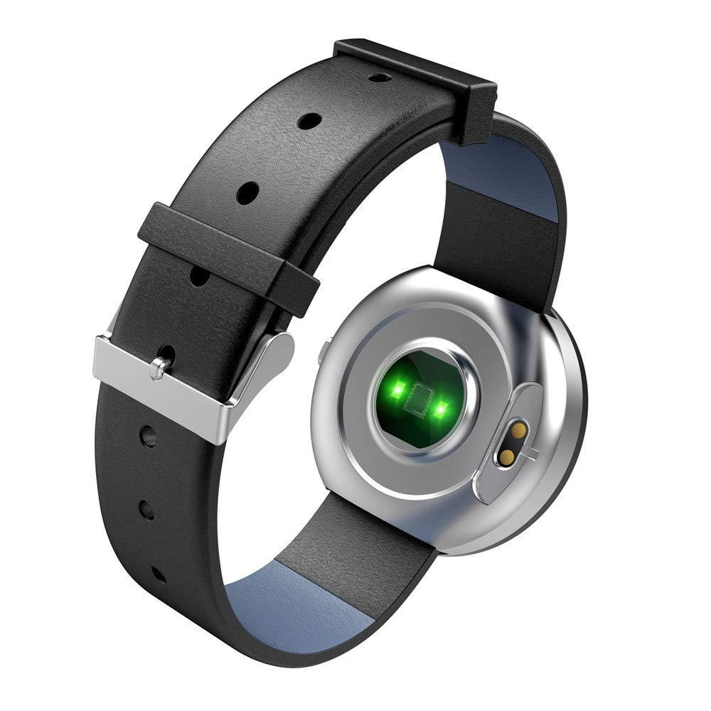 ... Tracker Reloj Inteligente con Ritmo cardíaco Reloj Elegante de Fitness podómetro con Interfaz de Usuario Colorida (❤️Plateado): Amazon.es: Relojes