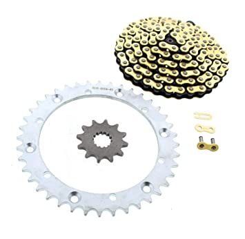 X-Ring Chain and 12//40 Sprocket Set 2001-2005 Yamaha Raptor 660 More Power
