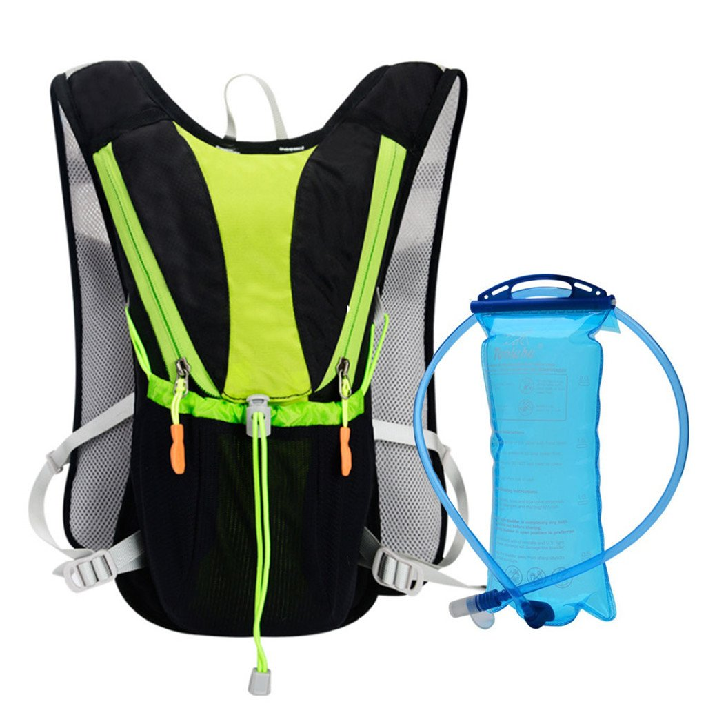 Black 10L Marathon Hydration Bag With 2L Water Bag Outdoor Running Bags Hiking Backpack Vest Cycling Bike Bicycle Backpack Camelbak