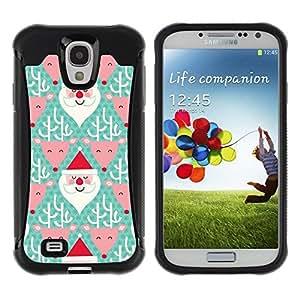 Paccase / Suave TPU GEL Caso Carcasa de Protección Funda para - reindeer Santa Claus green Christmas - Samsung Galaxy S4 I9500