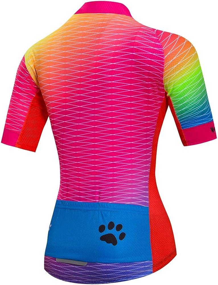 Details about  /2021 Women/'s Cycling Jersey Clothing Bicycle Sportswear Short Sleeve Bike Shirt