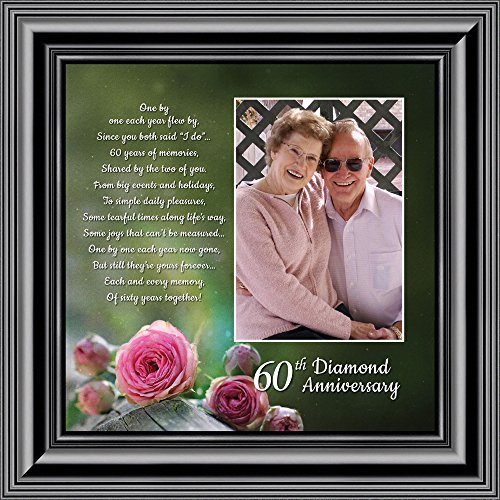 Personally Yours Diamond, 60th Anniversary Picture Frame, Diamond Anniversary Gifts, 10x10 6310B by Personally Yours
