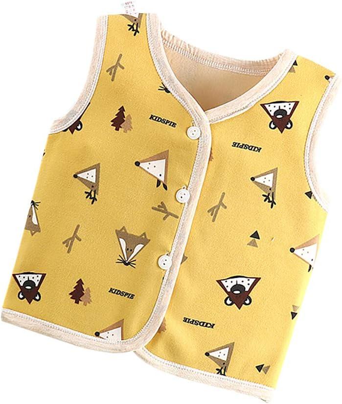 elegantstunning Kid Breathable Fleece Vest Baby Warm Gilet Sleeveless Sweatshirt pink rabbit 100CM65#