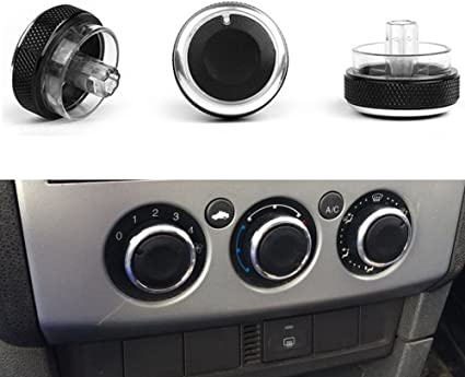 black 3Pcs AC Knob,Air Conditioning Heat Control Switch for Fords Focus 2 3 MK2 MK3 Mondeo