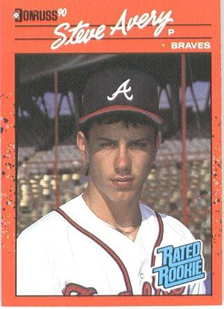 Amazon Com 1990 Donruss Baseball Card 39 Steve Avery Collectibles Fine Art