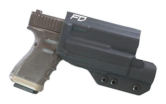 Amazon.com : Fierce Defender OWB Kydex Holster Glock 19 23 32 W/X300 The Prodigy Series W/Teklok Belt Attachment -Made in USA- (Black) : Sports & Outdoors