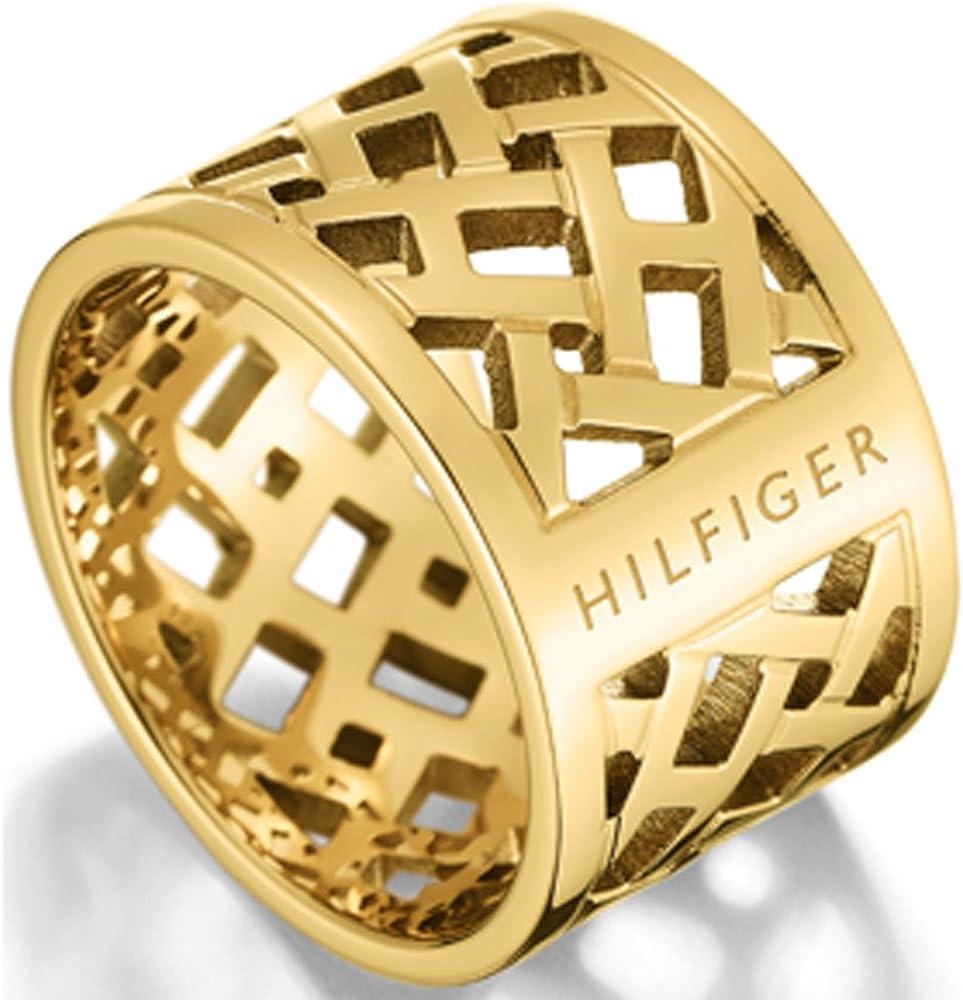 Tommy Hilfiger–Anillo de Mujer Acero Inoxidable Oro tj2700750b–52
