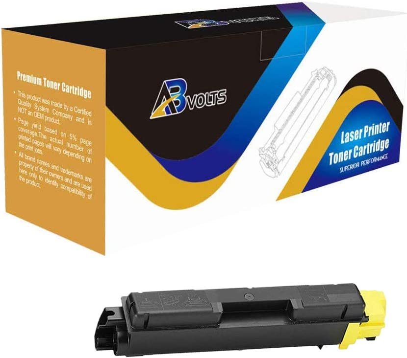 AB Volts Compatible Toner Cartridge Replacement for Kyocera-Mita TK582Y for FS C5150DN P6021CDN Yellow,1-Pack