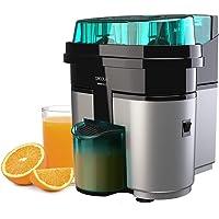 Cecotec EssentialVita Twice Elektrische citruspers, 90 W, dubbele kop en snijder, vruchtvleesfilter, glas 500 ml…