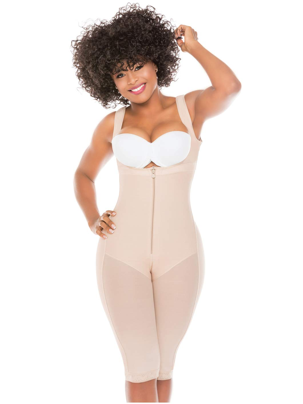 99489bc21 Salome 0517 Women Post Surgery Full Body Shaper with Zipper Shapewear Fajas  Colombianas Reductoras Moldeadoras Completas Post-operatorias Beige 2XL