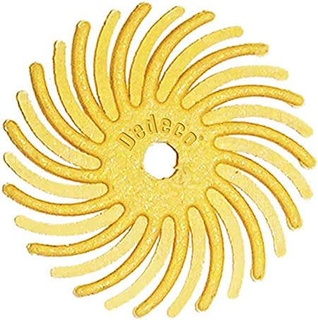 Medium 120 Grit 7//8 Inch TC 4-PLY Radial Bristle Discs 6 Pack Precision Thermoplastic Rotary Cleaning and Polishing Tool Dedeco Sunburst