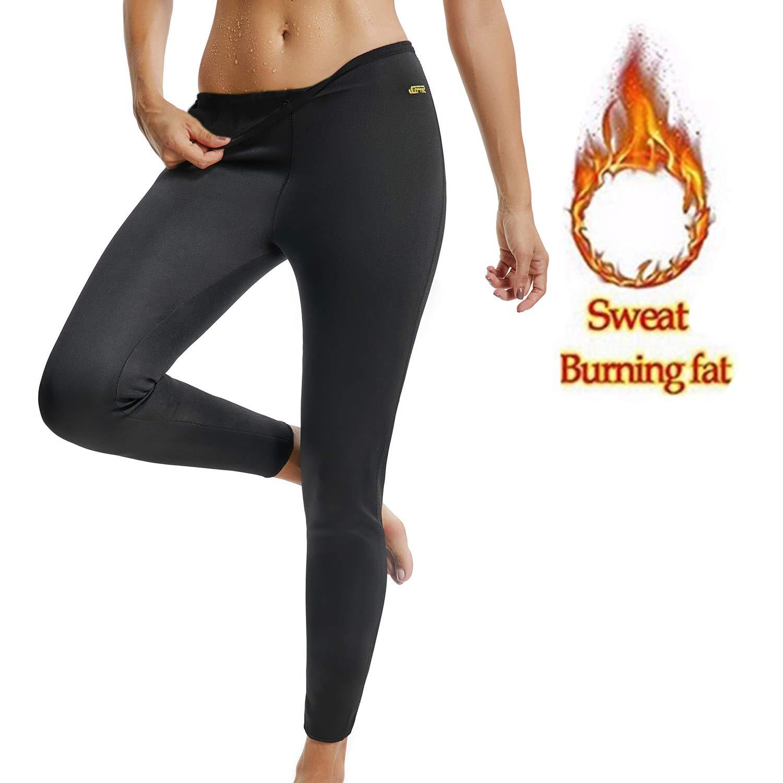 yofitレディーススリミングホットサーモレギンスパンツネオプレンサウナ発汗くるぶし丈パンツ体重損失の脂肪燃焼 Medium ブラック B07FSHWNF1