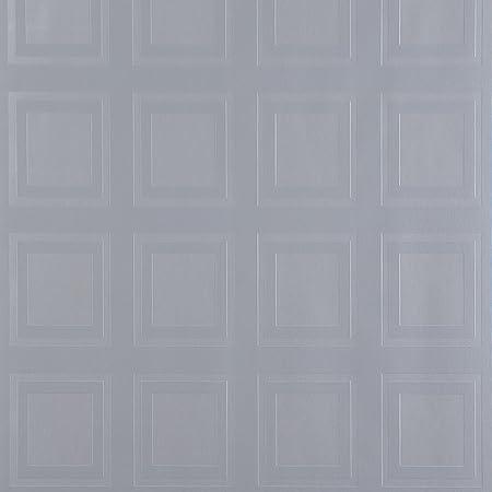Designer Kelly Hoppen Twist Geometric Chocolate//Orange Luxury Flocked Wallpaper