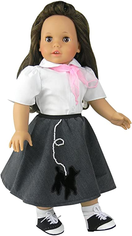 """Set 3 WHITE Lace Trim DOLL ANKLE SOCKS fits 15/"""" /& 18/"""" AMERICAN GIRL Doll Clothes"""
