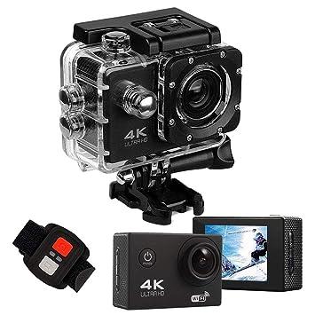 Amazon.com: Cámara de acción 4K Ultra Hd WiFi Impermeable DV ...