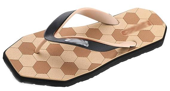 coloré : Gris, Taille : EU:42/UK:8 Chaussures et Sacs HhGold Personnalité Masculine Flip Flops Mode Clip extérieur Football Tow Pinch Sandals Beach