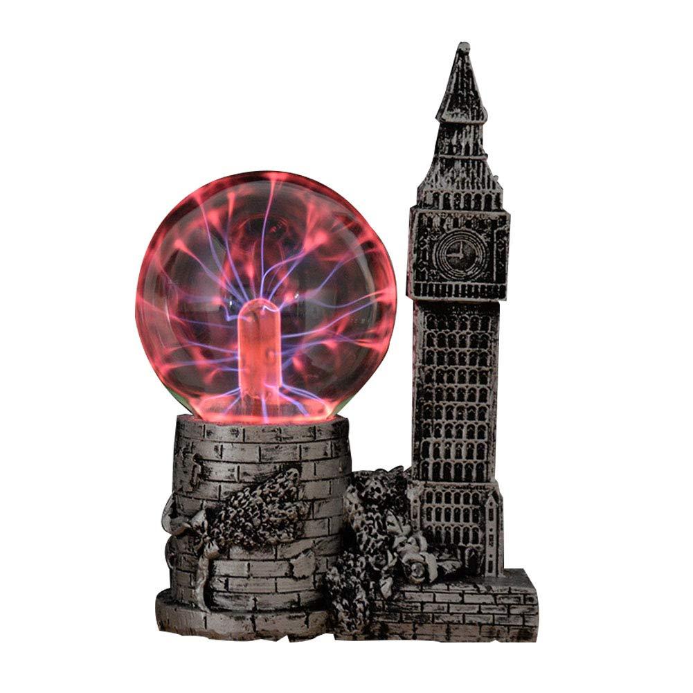 HLL Plasma Ball Touch Sensitive Ball Lamp Light Nebula Sphere Globe Novelty Toy Globe Kids Party Decorative Gift Light Silver 4.53X3.15X7.09In
