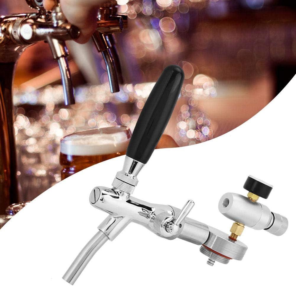 Zouminyy Dispensador de cerveza, dispensador de tapa de barril de cerveza de acero inoxidable Kit de accesorios para medidor de presión de grifo ajustable