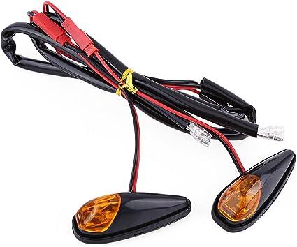 Luz intermitente LED para motocicleta, 2 piezas/pares, luz ámbar ...