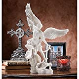Design Toscano Bonded Marble St. Michael the Archangel Angel Statue (WU71543) For Sale