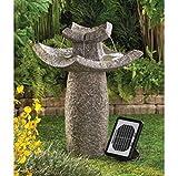 USA Premium Store ASIAN TEMPLE SOLAR & ELECTRIC WATER FOUNTAIN GARDEN YARD PATIO DECOR NEW~12844
