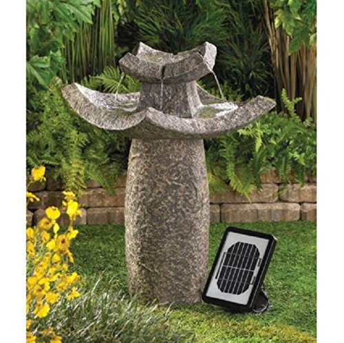 USA Premium Store ASIAN TEMPLE SOLAR & ELECTRIC WATER FOUNTAIN GARDEN YARD PATIO DECOR NEW~12844 by Smart Living