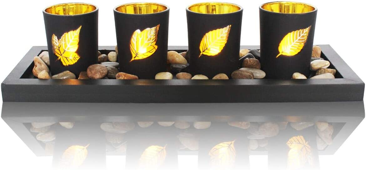 Decorative Candle Holders Set for Home Decor & Bathroom Decorations - Table Centerpieces Candle Holder for Coffee Table Center Pieces Decor,Dining Room Table,Living Room