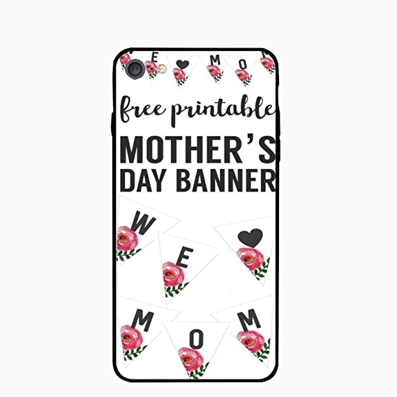 Amazon com: iPhone 7 Case,Personalized Mother's Day Banner PC