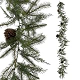 RAZ Imports - Pine Garland with Pinecones 9'