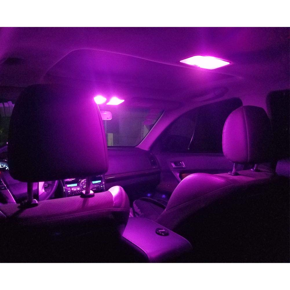 2x Pink Purple LED Bulb Under Mirror Puddle Light 168 194