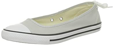 cfda40165ae Converse All Star Dainty Ballerina Trainers Grey Gray Grey ...