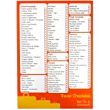 A5 Travel & Holiday Checklist and Planner - 50 sheets per pad - Double sided - Size 210mm x 148mm