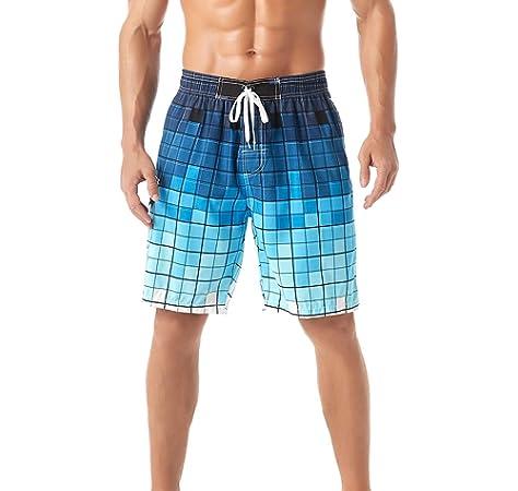 Superora Ba/ñadores Hombre Trajes de Ba/ño Pantalones Corto de Playa Nataci/ón Piscina Secado R/ápido