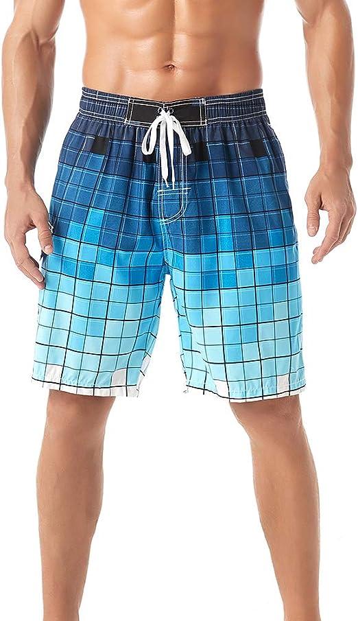 KASEBAY pantalones cortos de playa para hombre, bañador de secado rápido, pantalones casuales de surf con bolsillo