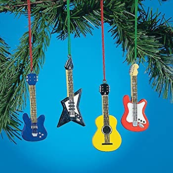 Amazoncom Set of 4 GUITAR ORNAMENTS BASS Electric ACCOUSTIC